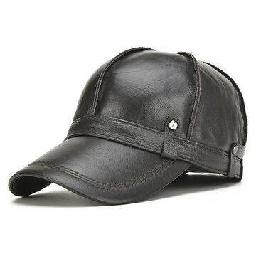 baseball hat covers ears big product options alt men genuine leather cowhide cap with minnie mouse